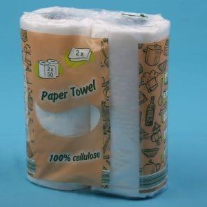 Két rétegű Papír Törlőkendő 100% cellulóz