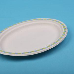 BIO Chinet Papír Ovális tányér